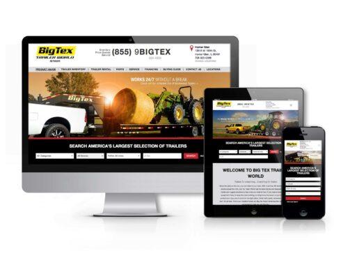 Big Tex Trailer World Website