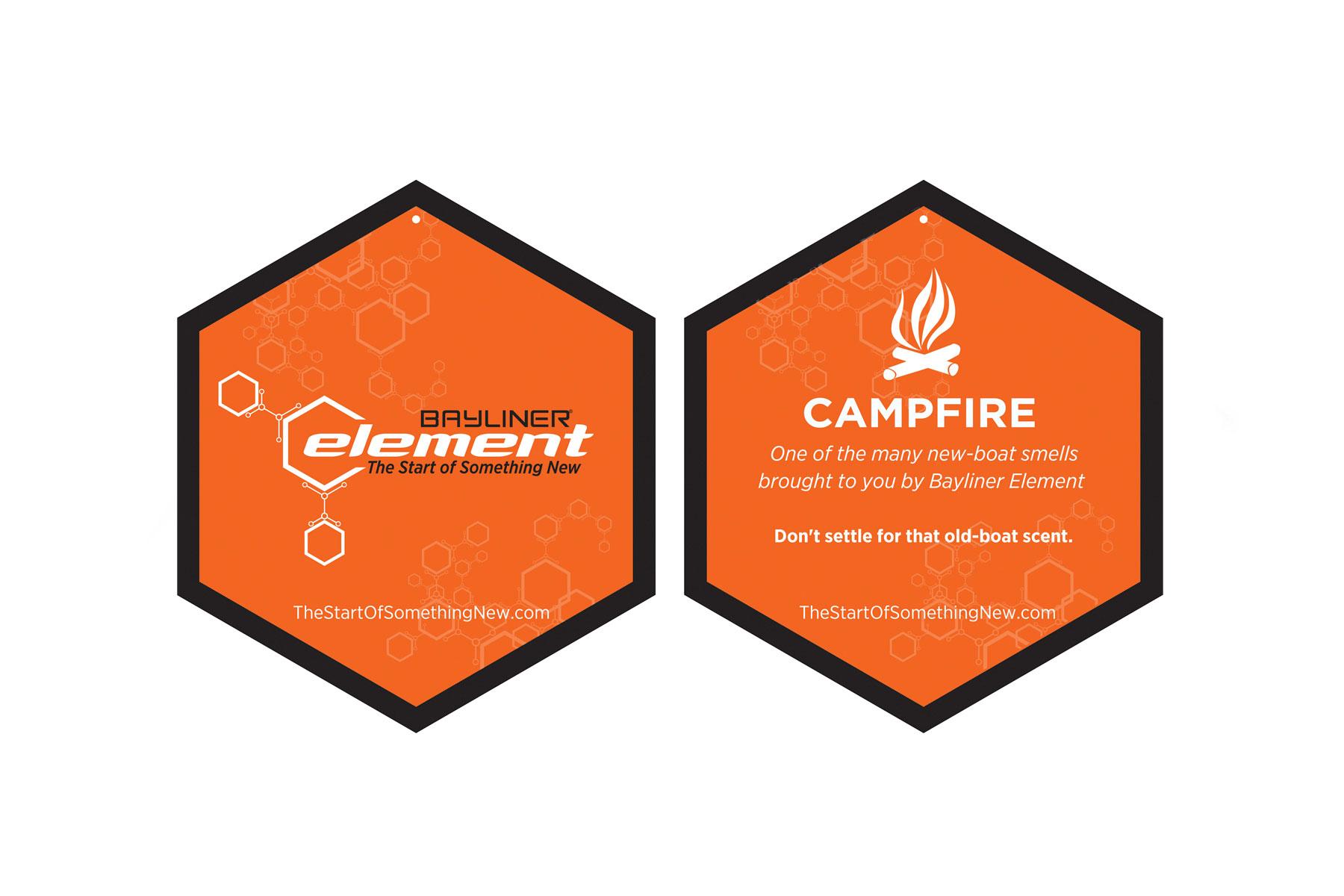 Bayliner Element campfire-scented air freshener