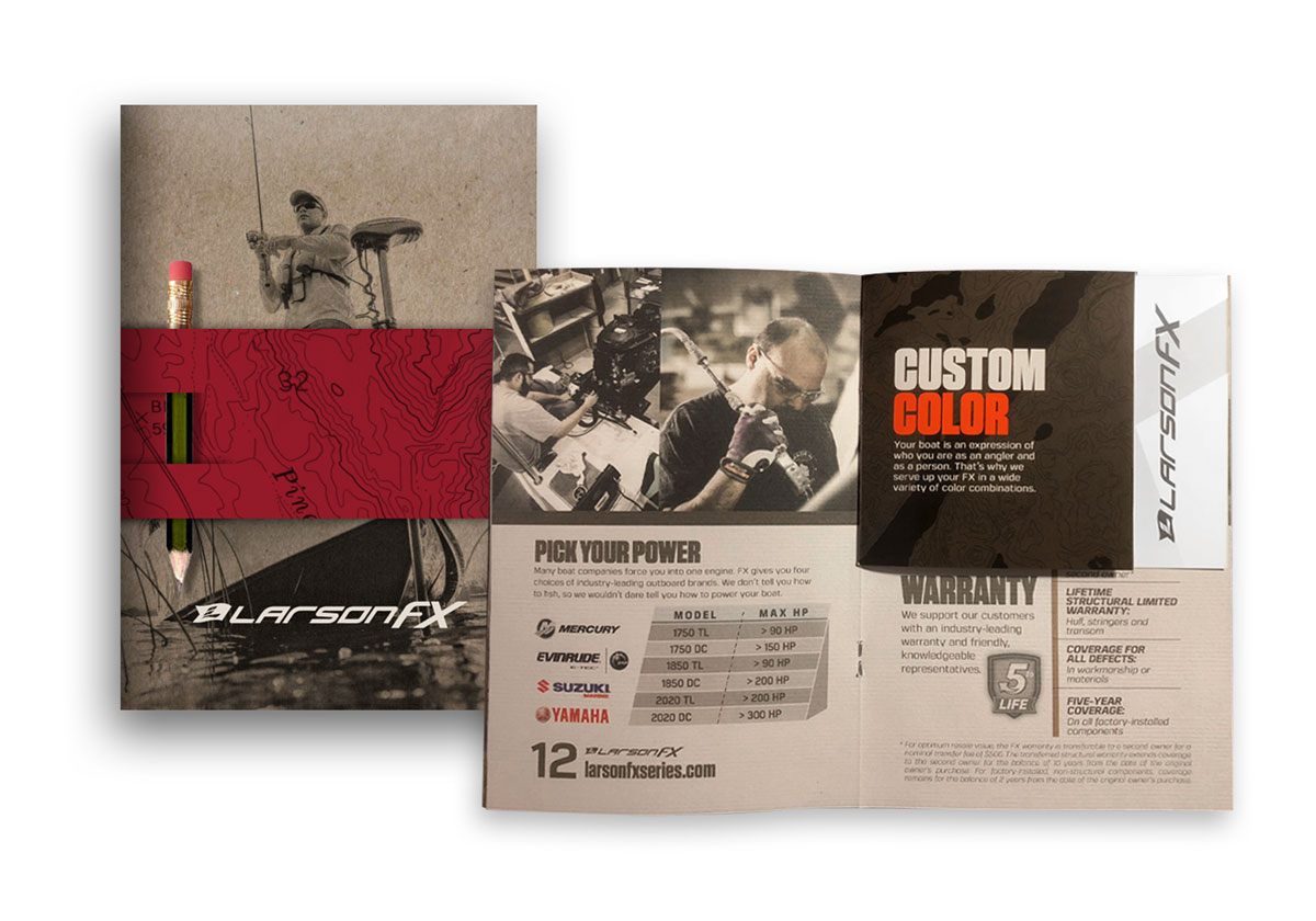 LarsonFX magazine cover and spread detailing LarsonFX features